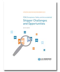 <p>Most industry observers agree that CSA will dramatically affect the motor carrier industry—but what will it mean for shippers? Find out what CSA is designed to do and how it could impact you.<br /> Request a copy today!</p>